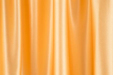 tela seda: Cierre de amarillo textura de seda de tela Foto de archivo