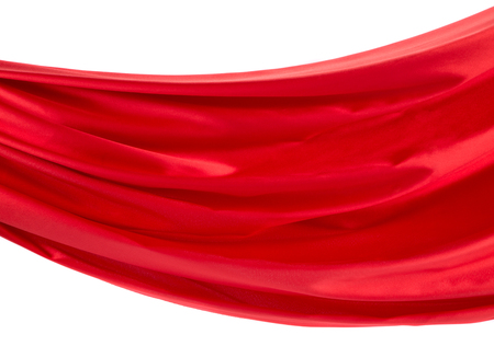 drapery: Red silk drapery. Isolated as a whole background.