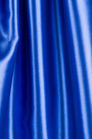 silk: Close up of blue silk
