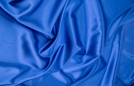 blue silk: Blue silk cloth texture close up Stock Photo