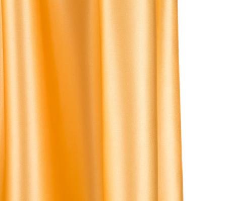 Closeup of golden silk cloth texture. Whole background.