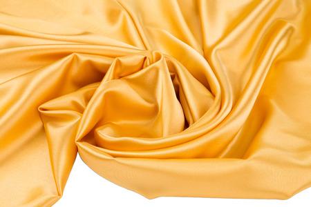 tela seda: tela de seda de oro de cerca. Todo el fondo.
