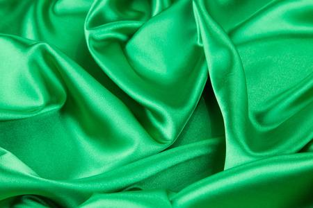 silk: Green silk drapery