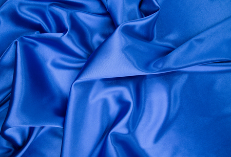 silk: Blue silk drapery Stock Photo