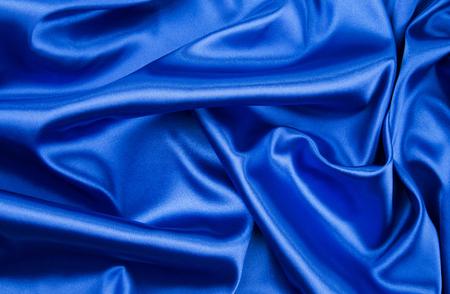 blue silk: Blue silk drapery Stock Photo