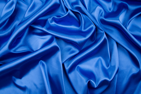 sexual abstract: Soft folds of blue silk cloth