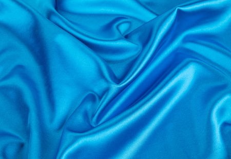 sexual abstract: Blue silk drapery Stock Photo