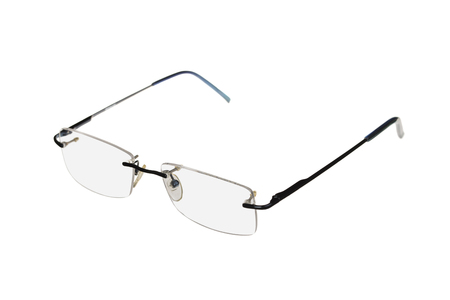 plactic: New fashionable glasses. Isolated on a white background.