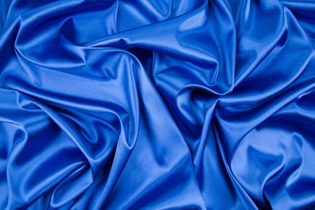 satiny: Blue silk drapery Stock Photo