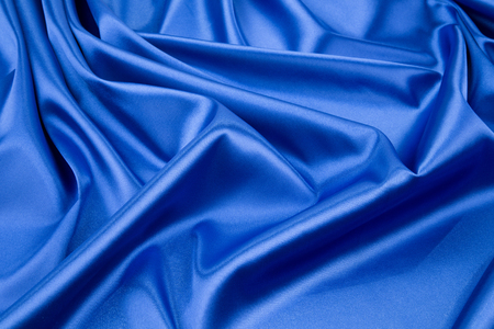 sexual abstract: Close up of blue silk