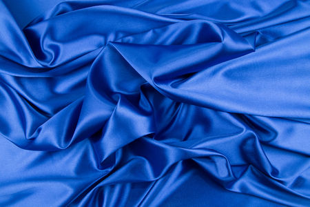 drapery: Blue silk drapery Stock Photo