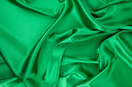 satiny: Green silk drapery