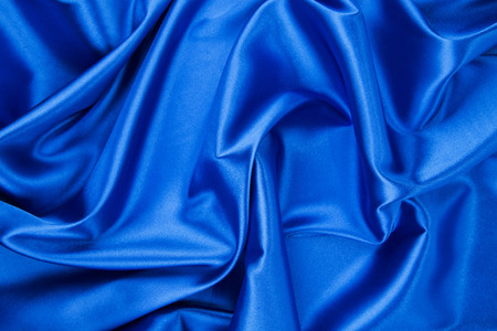 drapery: Blue drapery silk fabric