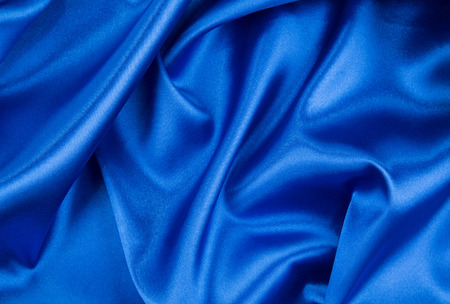 silk fabric: Blue drapery silk fabric