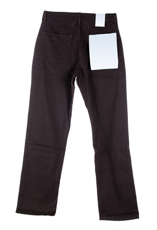 black pants: Black pants. Front view Isolated on a white background