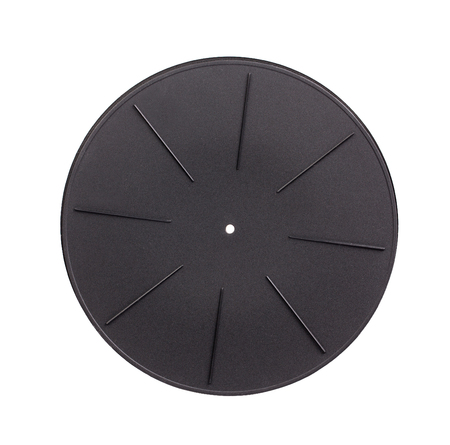 78 rpm: Rubber disc of analog music player. Isoladet on a white background.