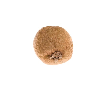 rotten fruit: Rotten kiwi fruit. Isolated on a white background.