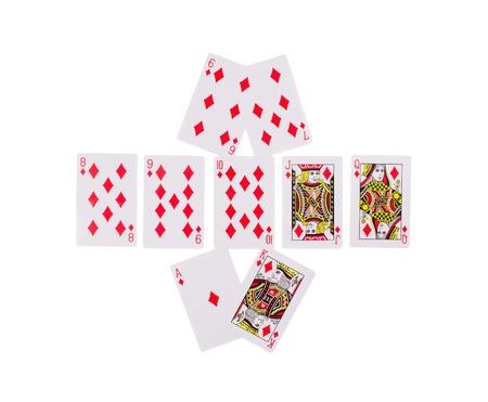 holdem: Bad Beat Texas Holdem. Isolated on a white background.