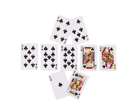 beat: Bad Beat Texas Holdem. Isolated on a white background.