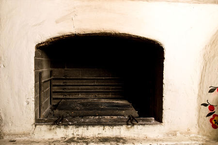 moldovan: Traditional moldovan oven for cooking. Can be used as a whole background. Stock Photo