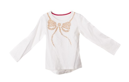 Childrens cotton blouse. Isolated on the white background.