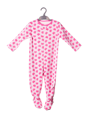 Childrens rompel suit. Isolated on the white background.