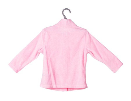 Childrens flannel jacket. Isolated on the white background.