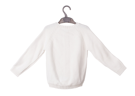 Knitted childrens jumper. Isolated on the white background.