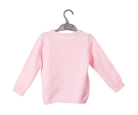 warm shirt: Childrens knitted blouse. Isolated on the white background.