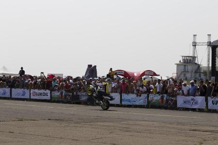 BMW Festival in Chisinau Republic of Moldova July 30 2016. Motorbike show Attila.
