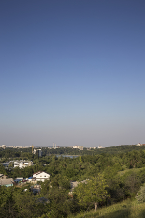 Summer in the city. View on the city park in Kishinev. Stock Photo