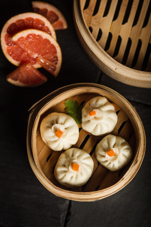 Dim Sum dumplings. Chinese traditional food Stock Photo