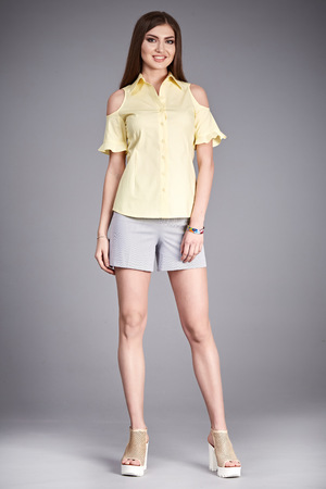glamour girl: Casual clothes catalog collection for life style every day walk party student girl wear pants and t-shirt blouse hand bag fashion shoes perfect body model pose glamour natural beauty   make up hair