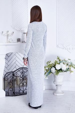 Sexy Frau Schönheit Modell Tragen Stehen Zurück Grüne Mode Kleid ...