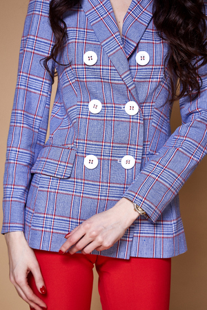 Detail of woman clothes accessory catalog collection fashion style glamour trend. Stock Photo