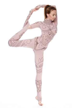 Beautiful young sexy woman with perfect athlete body healthy life style slim yoga gymnastics exercise stretching, trainers, trainer, fitness, sport, wear casual sports skinny clothes for gym harmony.