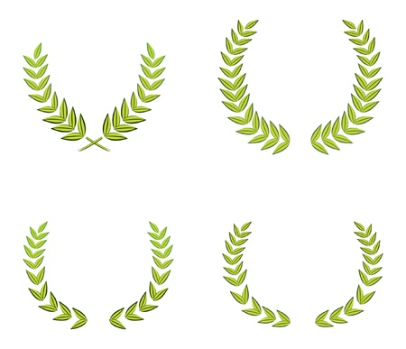 green wreaths Vector