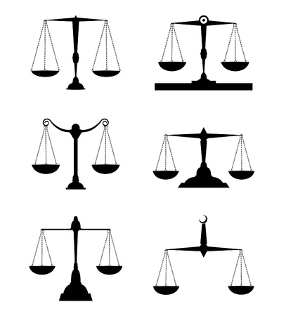 antique weight scale: justice scale