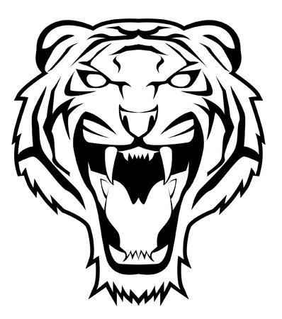 silueta tigre: tigre cara