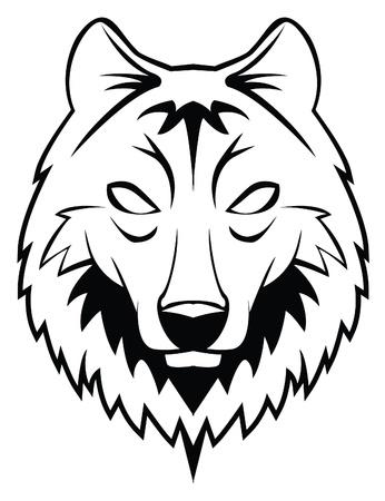 wilkołak: głowa wilka Ilustracja