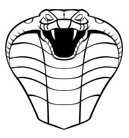 serpiente cobra: cobra cabeza