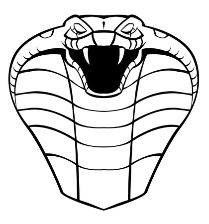 venomous snake: cobra head Illustration