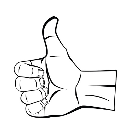 thumb up hand Stock Vector - 17444616