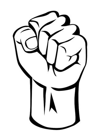 tough man: strong hand