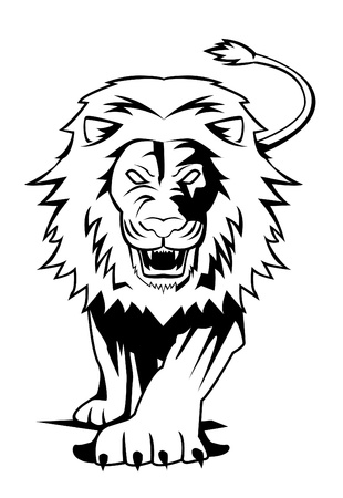 white lion: lion Illustration