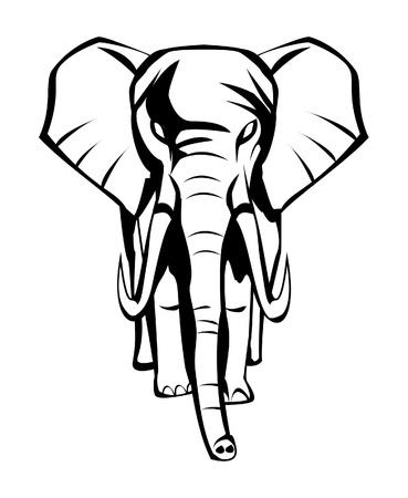 elefanten: Elefant Illustration