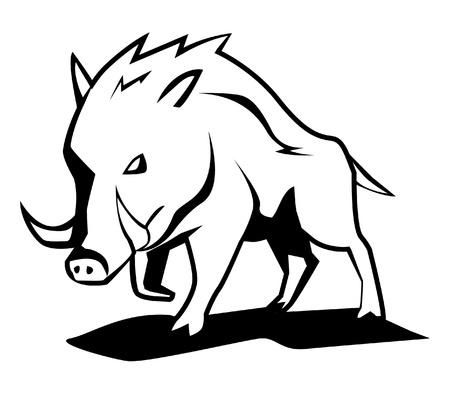 wild zwijn Vector Illustratie
