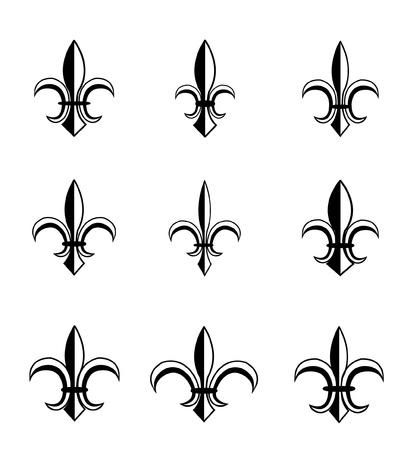 symbol fleur de lis: fleur de lis set