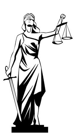 giustizia: signora giustizia Vettoriali