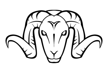 goat face Vector